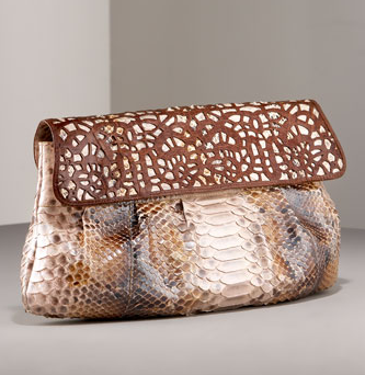 python croc handbag