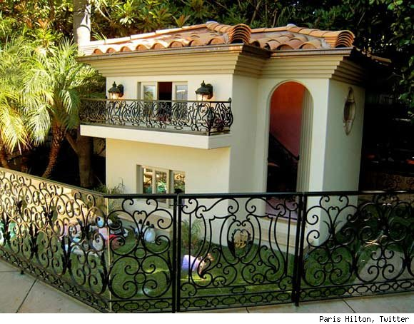 But if you are one of Paris Hilton's many pets the dog house is the place to