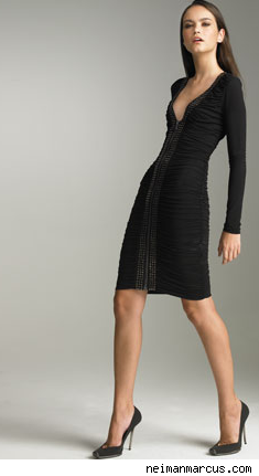 Ruched Studded Dress