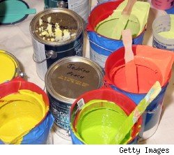 paint cans