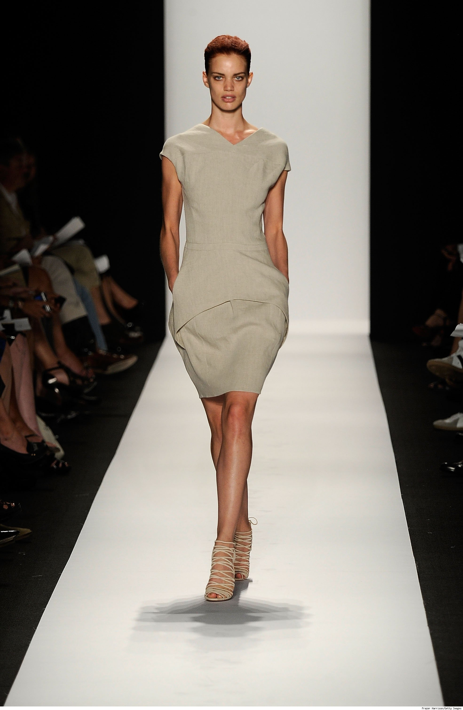 model walks the runway at Narciso Rodriguez Spring 2010 fashion show