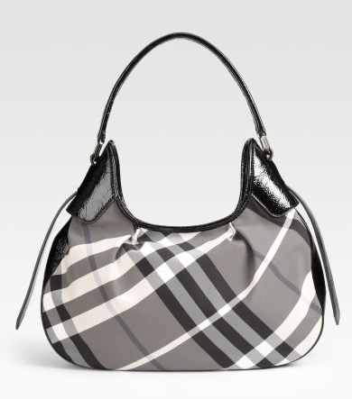 burberry check hobo