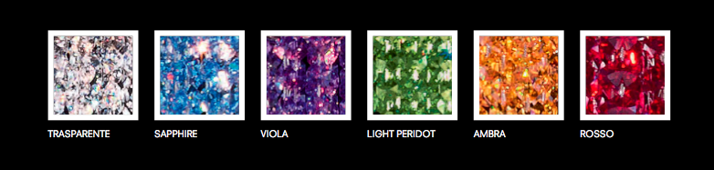 Colors available for Masiero's lighting fixtures