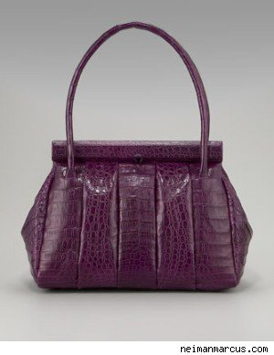 Nancy Gonzalez Soft Croc Quilted Satchel