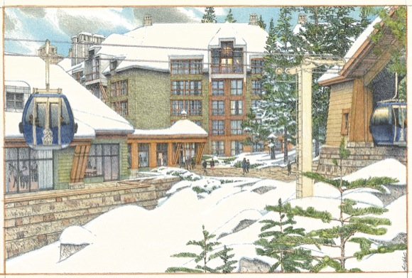 Ritz Carlton Highlands - Gondola Rendering