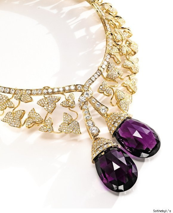 Van Cleef & Arpels Diamond and Amethyst Botticelli Neclace