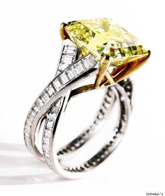 Fancy Vivid Yellow Diamond Ring by Tiffany & Co.