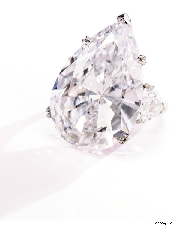 Spectacular pear-shaped 29.53 carat diamond