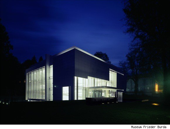 Dramatic Burda Museum at Night