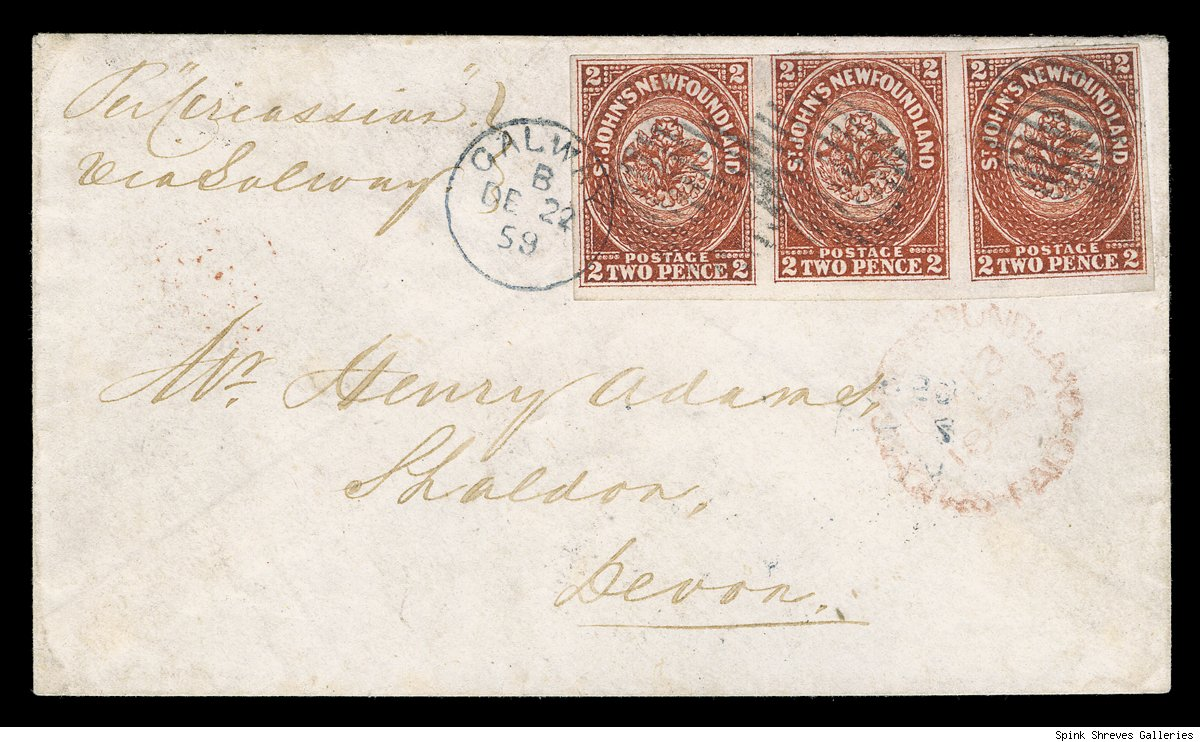 1857 2 Pence Strip