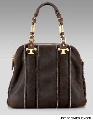 Tory Burch Nico Shearling Satchel