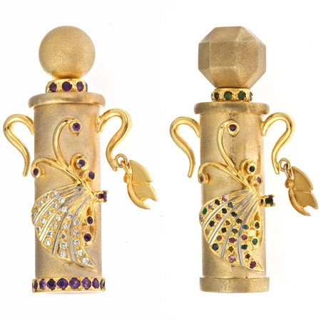 Jeweled Butterfly Bottles