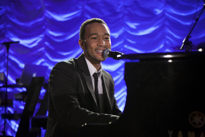 John Legend performs at W Opening