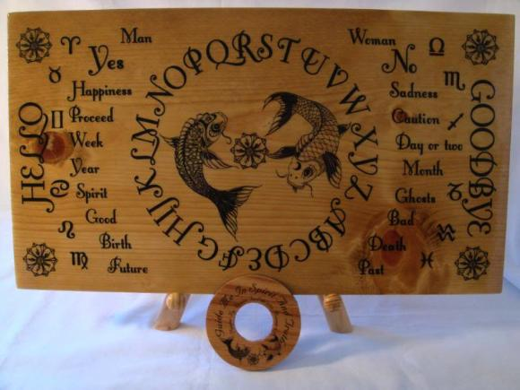 Real Wood Koi Fish Spirit Board Ouija