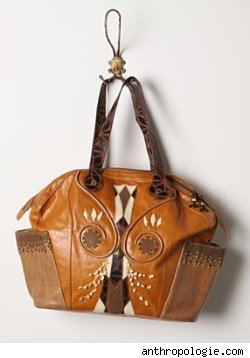 Anthropologie Horned Owl Tote
