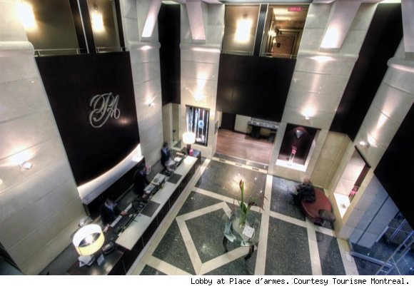 photo of lobby at Montreal's Place d'armes