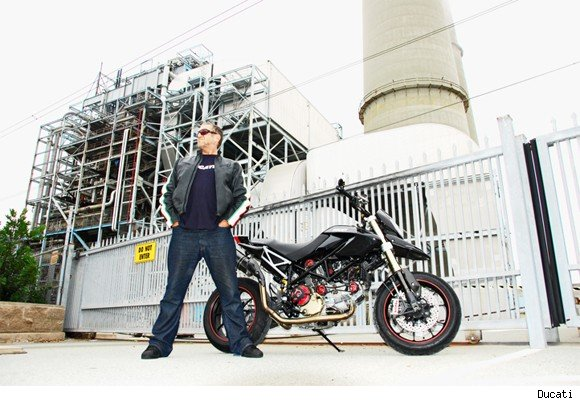 Steve Jones poses alongside his fabulous new bike