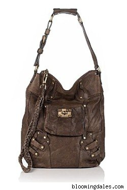 Juicy Couture Leather Lock-It Worth-It Crossbody Hobo Bag