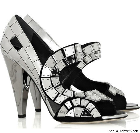 Thakoon Mirror Mosaic Strappy Sandals