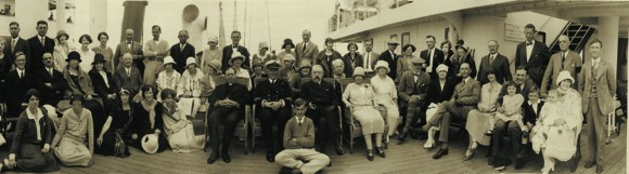 First Class Passengers on Royal Mail Steam Packet's Orca, 1925