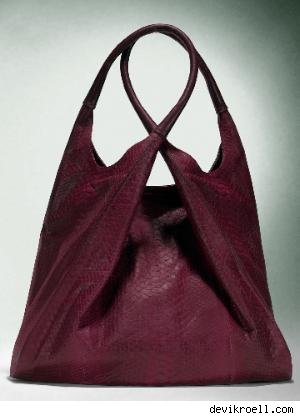 Devi Kroell Twist Bag in Waxed Python