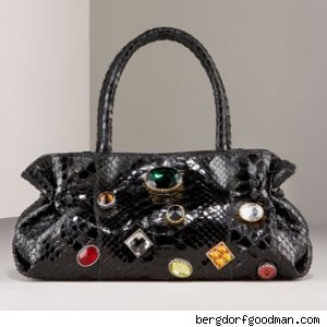 Carlos Falchi Glazed Python Dr. Bag