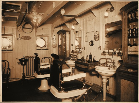 Barber Shop Aboard Messageries Maritime's Champoillion