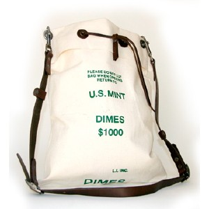 u.s. mint bank bag