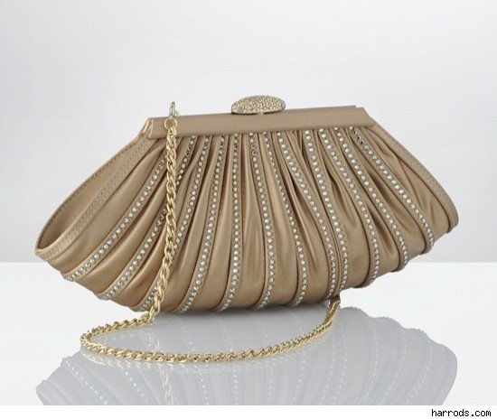 Rodo Fan Crystal Clutch Handbag