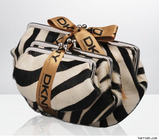 DKNY Zebra Print Purse Set Handbag