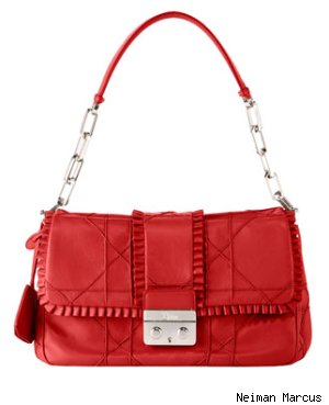 Dior Ruffled Flap Shoulder Bag
