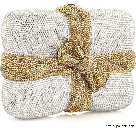 Judith Leiber Package Clutch Handbag