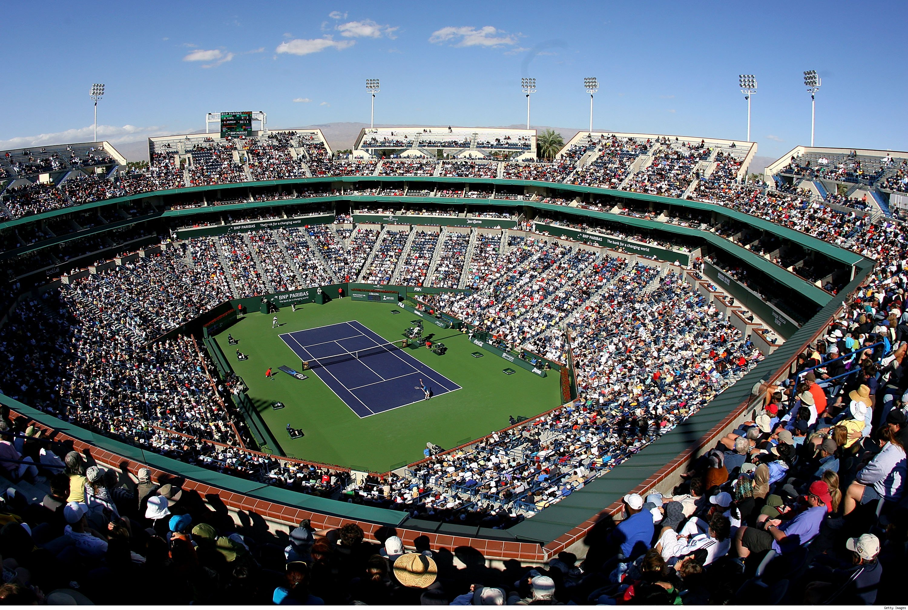 Indian Wells during the tournament (1 of 9)