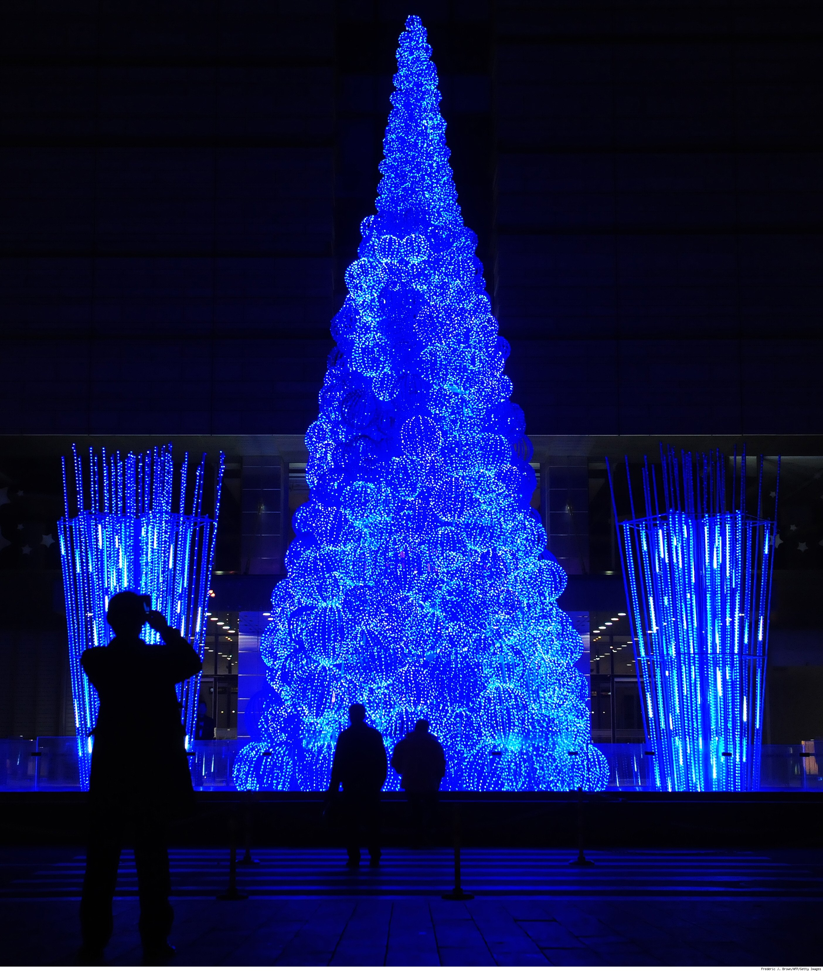Beijing's Fiber Optic Christmas Tree
