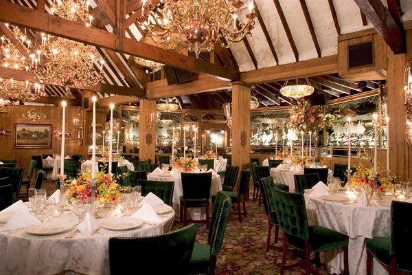 The Chestnut Room set for a wedding.