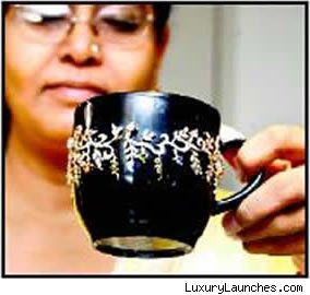 Jewel-Studded Coffee Mugs, Tea Cups, Drinking Glass