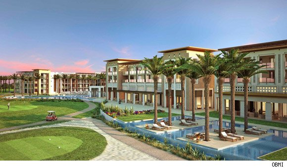 Rendering of the Ritz-Carlton Palm Hills in Cairo, Egypt