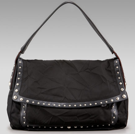 Donna Karan Crosstown Studded Hobo Handbag