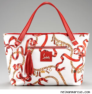 Christian Louboutin Ribbon Chain Print Shopper Handbag