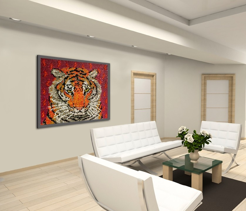Tiger on the wall