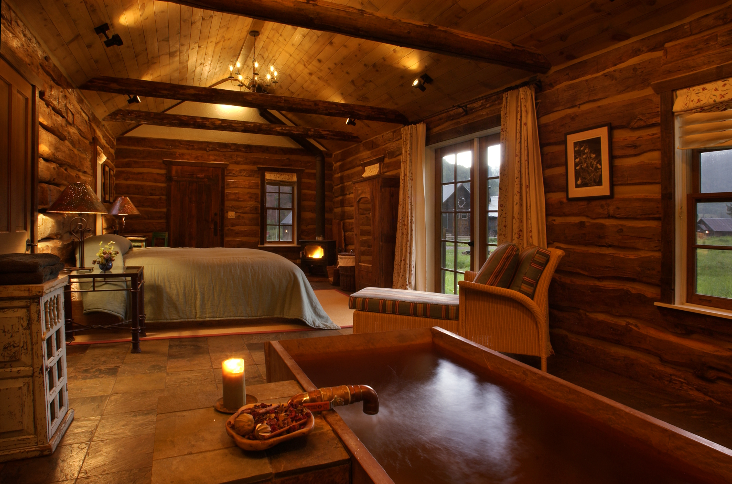 Images of small one bedroom cabins inside joy studio Log homes interiors