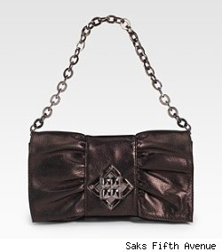 BCBGMAXAZRIA Leather Bow Bag