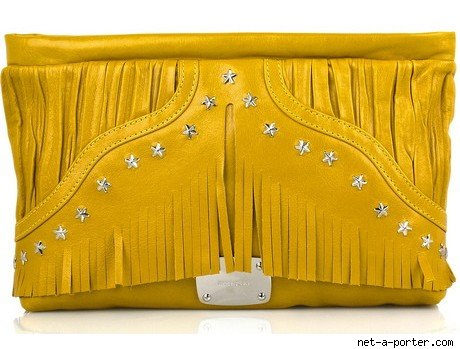 Jimmy Choo Ina Nappa Leather Clutch Handbag