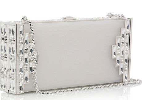 Judith Leiber Streamline Frosted Lucite Clutch Handbag
