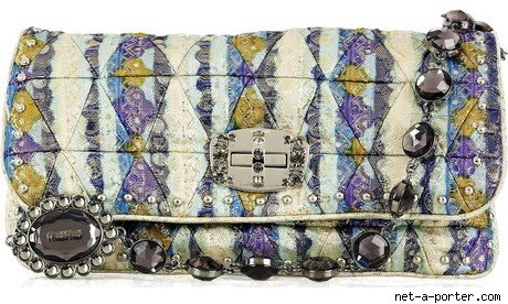 Miu Miu Lurex Jeweled Handbag