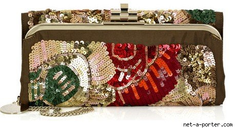 Stella McCartney Embroidered Sequined Handbag