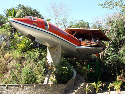 Sleep In Jet Fuselage In Costa Rica