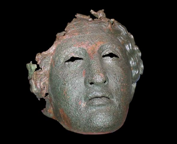 Ceremonial Military Helmet in the Shape of Dionysus
