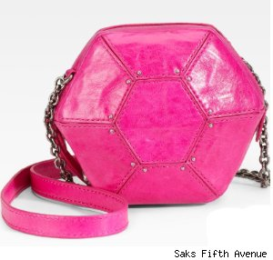 A Hexagon Shoulder Bag: Botkier Orion Leather