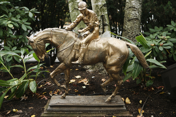 Bronze Horse and Jockey Sculpture, by I. Bonheur